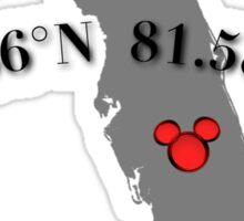 Walt Disney World Coordinates N° W°  Sticker