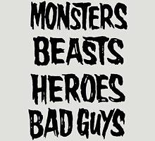 monsters beasts heroes bad guys T-Shirt