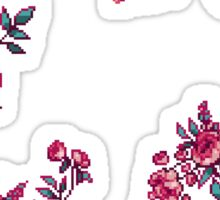 Pixel Floral - Arrangement in Pink Sticker
