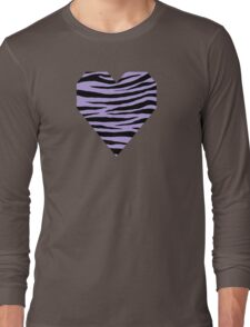 0373 Light Pastel Purple Tiger Long Sleeve T-Shirt