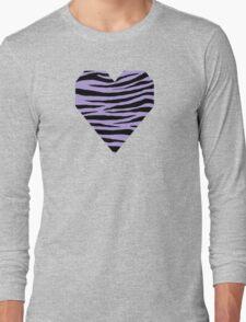 0373 Light Pastel Purple Tiger Long Sleeve T-Shirt