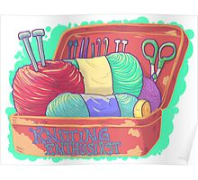 Knitting Enthusiast Poster