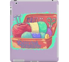 Knitting Enthusiast iPad Case/Skin