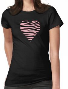 0374 Light Pink Tiger Womens Fitted T-Shirt