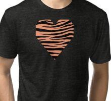 0375 Light Salmon Tiger Tri-blend T-Shirt