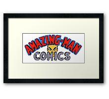 Amazing-Man Comics Logo Mens Wallet Framed Print