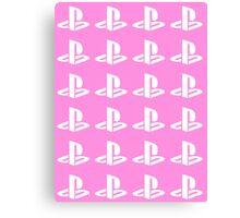 Playstation Symbol Pattern Canvas Print