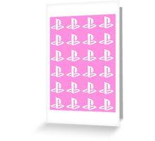 Playstation Symbol Pattern Greeting Card