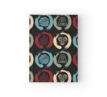 Avatar Inspired Zen Elemental Ensos (Square) Hardcover Journal