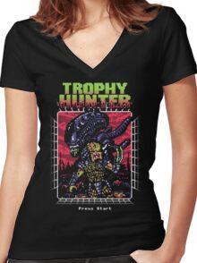Trophy Hunter Women's Fitted V-Neck T-Shirt