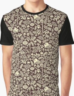 Birds and flowers. Graphic T-Shirt