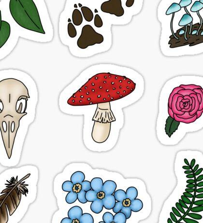 Small Nature stickers Sticker