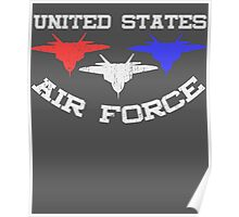 United States Air Force Red, White, & Blue Fighter Jets Poster