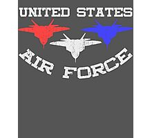 United States Air Force Red, White, & Blue Fighter Jets Photographic Print