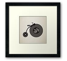 Penny Record Black Framed Print