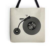 Penny Record Black Tote Bag