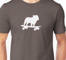 Skateboarding Bulldog Unisex T-Shirt