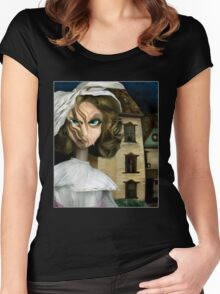 Dollhouse  - Gothic Art Women's Fitted Scoop T-Shirt