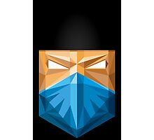 Sub zero masked face vector art polygonal style Photographic Print