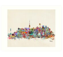 Beijing city skyline Art Print