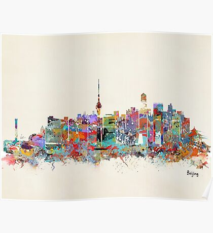 Beijing city skyline Poster