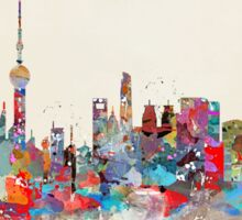 Shanghai city skyline Sticker