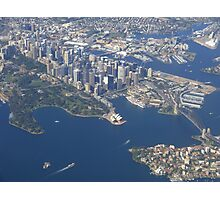 I picked a great day to fly into Sydney! Photographic Print