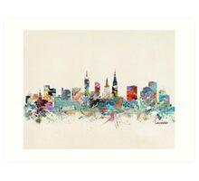 Leicester city skyline Art Print