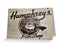 Humphrey's Pilot Shop Woodburned logo Brampton Flight Centre  Greeting Card