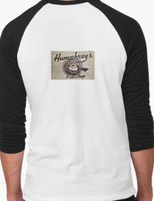 Humphrey's Pilot Shop Woodburned logo Brampton Flight Centre  Men's Baseball ¾ T-Shirt