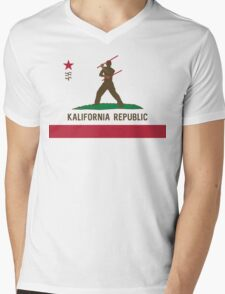 Kalifornia Republic Kali Silat Filipino Martial Arts Mens V-Neck T-Shirt