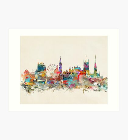 Sheffield city skyline Art Print