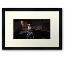 Girl alone Framed Print