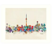 Toronto city skyline Art Print