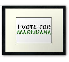 Marijuana Vote Smoke Weed T-Shirts Framed Print