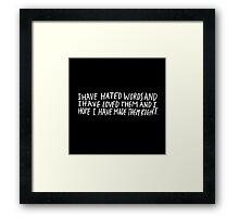 Words Framed Print