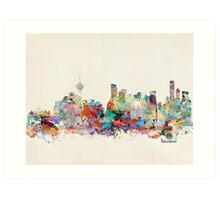 Vancouver city skyline Art Print