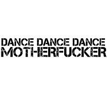 Party Hard Dance Techno Trance Text Photographic Print