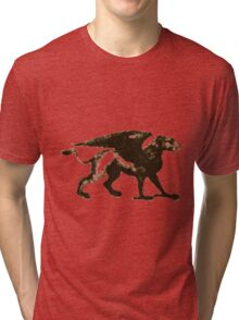 Gryphon Mythical Creature Illustration Tri-blend T-Shirt