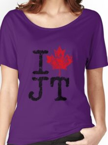 I Love Justin Trudeau Women's Relaxed Fit T-Shirt