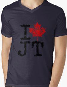 I Love Justin Trudeau Mens V-Neck T-Shirt
