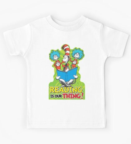 Dr Seuss Reading Quote Kids Tee