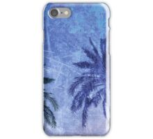 Cool, unique modern abstract blue palm tree digital art design iPhone Case/Skin