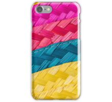 Colorful background of woven straw iPhone Case/Skin