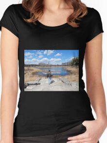 Early Spring Walk Women's Fitted Scoop T-Shirt