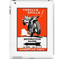 Motorcycle Races Poster iPad Case/Skin