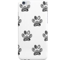 Mandala Dog footprint  iPhone Case/Skin