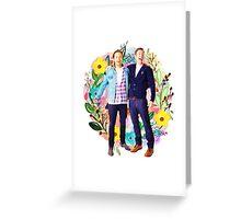 Sebastian Stan & Chris Evans Greeting Card