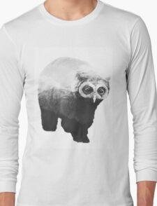 Owlbear in Mountains (Black & White) Long Sleeve T-Shirt