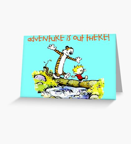 Calvin and Hobbes' Wonderful Adventure Greeting Card